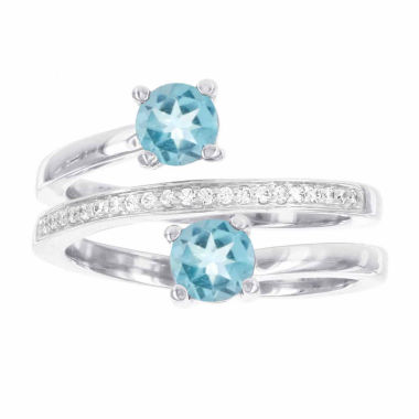 jcpenney.com | 1/10 CT. T.W. Blue Topaz Cocktail Ring