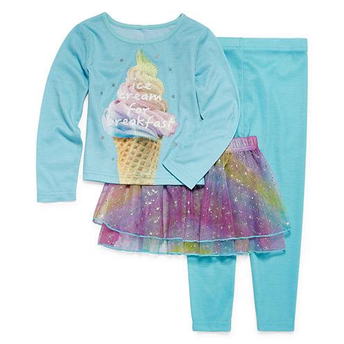 Ice Cream Tutu 3-pc. Pajama Set - Preschool Girls 4-6X