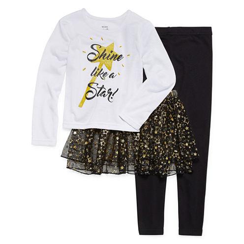 Star Tutu 3-pc. Pajama Set - Preschool Girls 4-6X