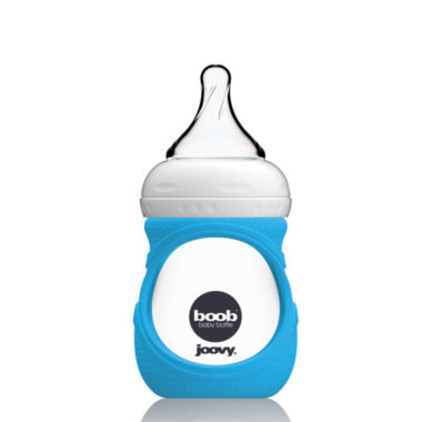 jcpenney.com | Joovy Boob Baby Bottle Glass 5-oz., with Blue Sleeve