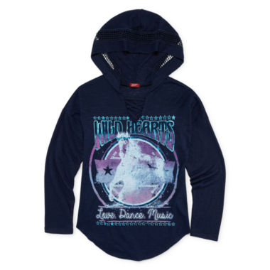 jcpenney.com | Arizona Girls Graphic Hoodie - Girls 7-16 and Plus