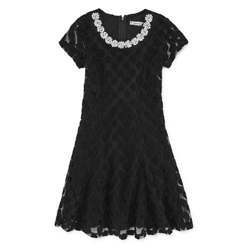 Speechless Short Sleeve Party Dress - Big Kid Girls