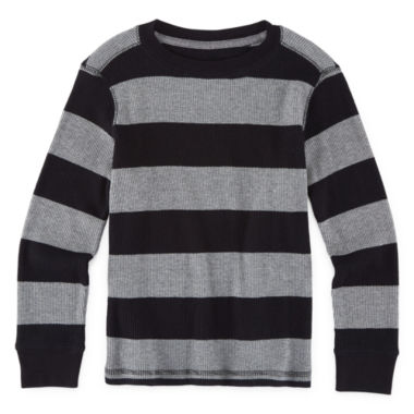 jcpenney.com | Arizona Long-Sleeve Striped Thermal Tee - Preschool Boys 4-7