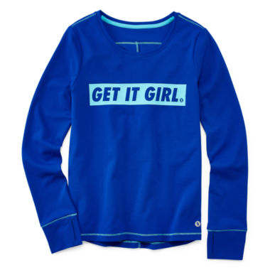 jcpenney.com | Xersion Performance Long Sleeve Graphic T-Shirt - Girls 7-16 and Plus