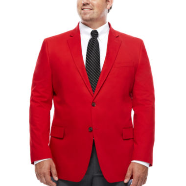 jcpenney.com | JF J. Ferrar® Cotton Cabaret Red Sport Coat - Big & Tall