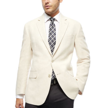 jcpenney.com | Stafford® Bone Herringbone Linen-Cotton Sport Coat - Classic Fit