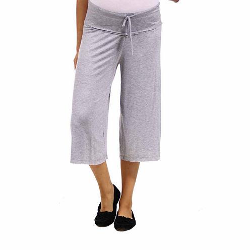 24/7 Comfort Apparel Solid Palazzo Pants-Maternity