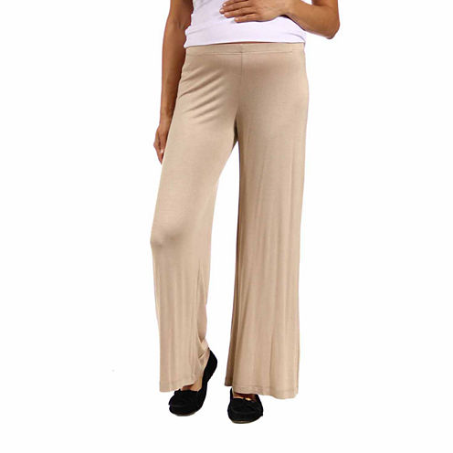 24/7 Comfort Apparel Solid Palazzo Pants-Maternity