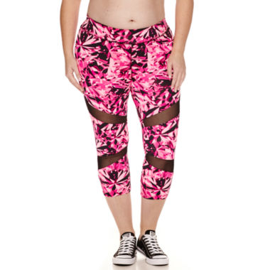 jcpenney.com | City Streets® Mesh-Inset Performance Cropped Leggings - Juniors Plus