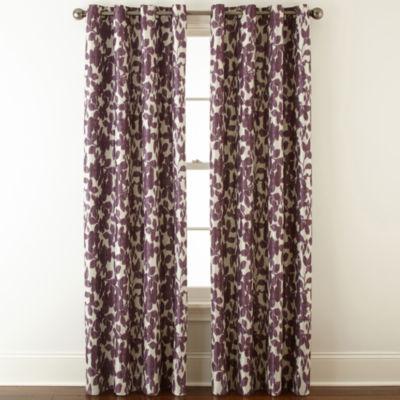 Liz Claiborne Avery Floral Grommet Top Blackout Curtain