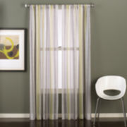 Groove Rod-Pocket Sheer Curtain Panel