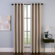 Faux Silk Grommet-Top Curtain Panel