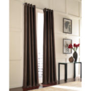 Velvet Grommet-Top Curtain Panel