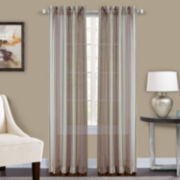 Percy Tailored Rod-Pocket Sheer Curtain Panel
