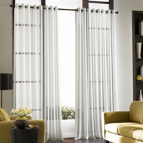Soho Volile Grommet-Top Sheer Curtain Panel