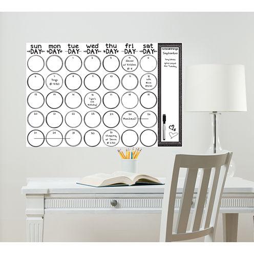 WallPops Sketch Monthly Calendar Decal