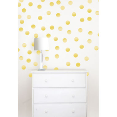 jcpenney.com | WallPops Metallic Confetti Dots Decal Set