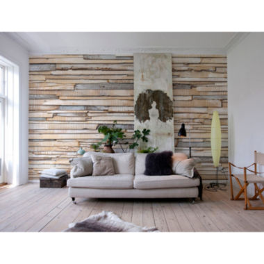 jcpenney.com | Whitewashed Wood Wall Mural