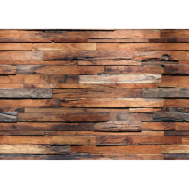 jcpenney.com | Ideal Décor Reclaimed Wood Wall Mural
