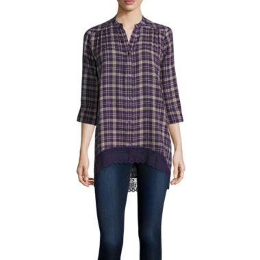 jcpenney.com | Wallpapher Long-Sleeve Plaid Tunic