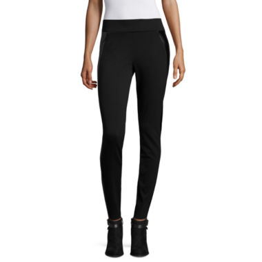 jcpenney.com | Worthington® Faux Leather Panel Leggings