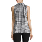 Worthington® Sleeveless Seamed Mockneck Top - Tall