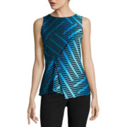 Worthington® Sleeveless Front-Tuck Peplum Top