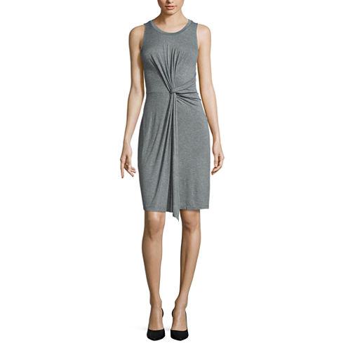 Worthington® Sleeveless Knot Waist Dress - Tall