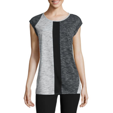 jcpenney.com | Worthington® Weekend Short-Sleeve Colorblock Tee
