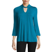 Worthington® 3/4-Sleeve Twist-Neck Top