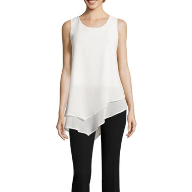 jcpenney.com | Artisan Asymmetrical Layered Tank Top