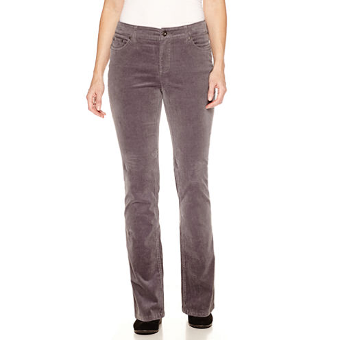St. John's Bay® Straight-Leg Corduroy Pants - Tall