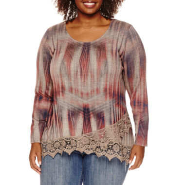 jcpenney.com | Unity® Long-Sleeve Snit with Layered Lace Trim