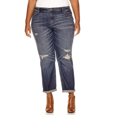 jcpenney.com | a.n.a® Skinny Fit Boyfriend Jeans - Plus