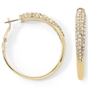 nicole by Nicole Miller® Embellished Hoop Earrings