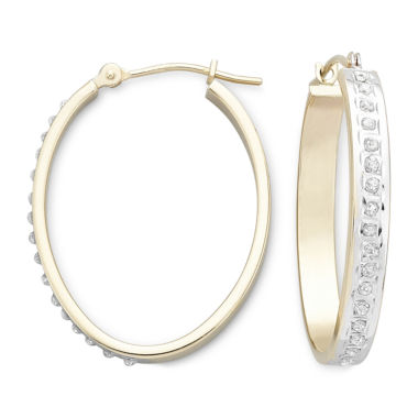 jcpenney.com | Diamond Fascination™ 14K Yellow Gold Hoop Earrings
