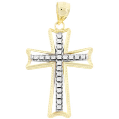 jcpenney.com | Womens 10K Two-Tone Gold Cross Pendant