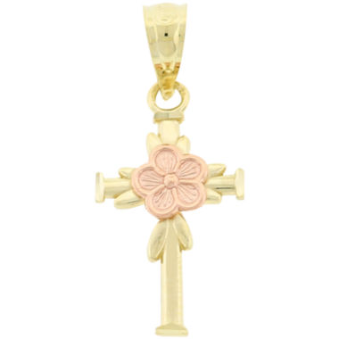 jcpenney.com | Two-Tone 10K Gold Cross Charm