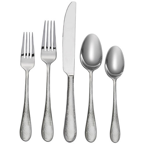 Oneida® Tibet 20-pc. Hammered Flatware Set