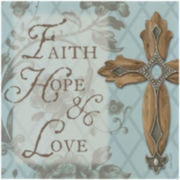 "Thirstystone® Faith, Hope, Love 8"" Trivet"