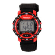 Armitron® Mens Black & Red Chronograph Digital Sport Watch