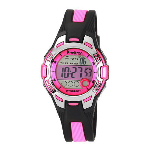 Armitron® Womens Pink Chronograph Digital Sport Watch 45/7030PNK