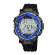 Armitron® Mens Bright Blue Chronograph Digital Sport Watch