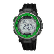 Armitron® Mens Bright Green Chronograph Digital Sport Watch 40/8301GRN