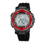 Armitron® Mens Bright Red Chronograph 20ATM Digital Sport Watch