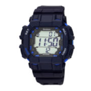 Armitron® Mens Navy Square Chronograph 20ATM Digital Sport Watch