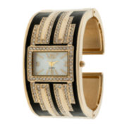 Womens Dressy Crystal-Accent Watch