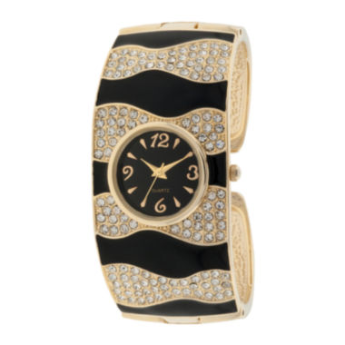 jcpenney.com | Womens Dressy Crystal-Accent Cuff Watch