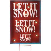 Lighted Indoor/Outdoor Holiday Decoration – Let It Snow