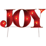 Lighted Indoor/Outdoor Holiday Decoration - Joy